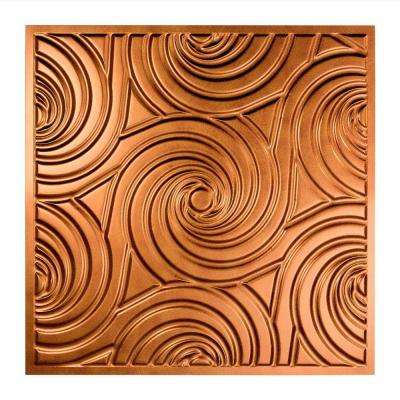 Typhoon - 2 ft. x 2 ft. Lay-in Ceiling Tile in Antique Bronze