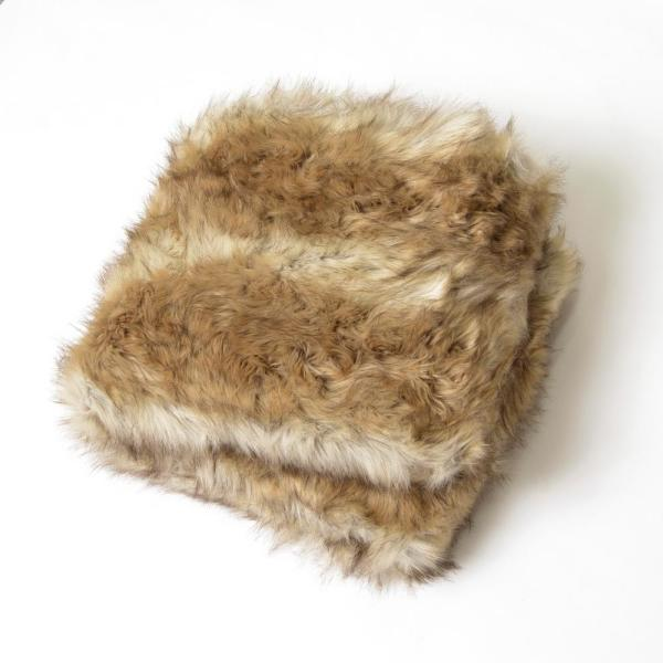 Platinum Frost Faux Fur Throw 58 in. x 84 In.