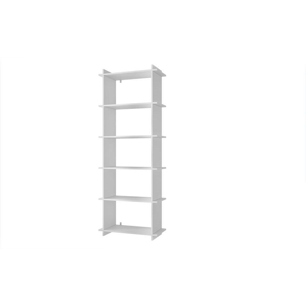 Manhattan Comfort Gisborne 2 0 White Open Bookcase 13amc6