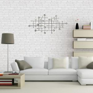 Appealing Metal/Glass Beaded Wall Decor by