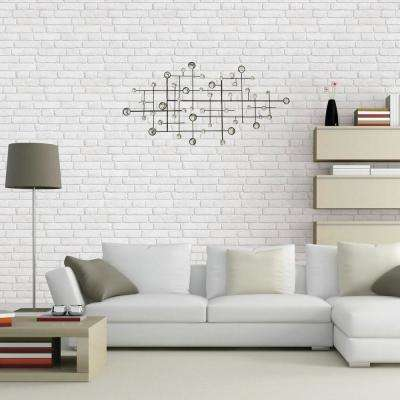 Appealing Metal/Glass Beaded Wall Decor