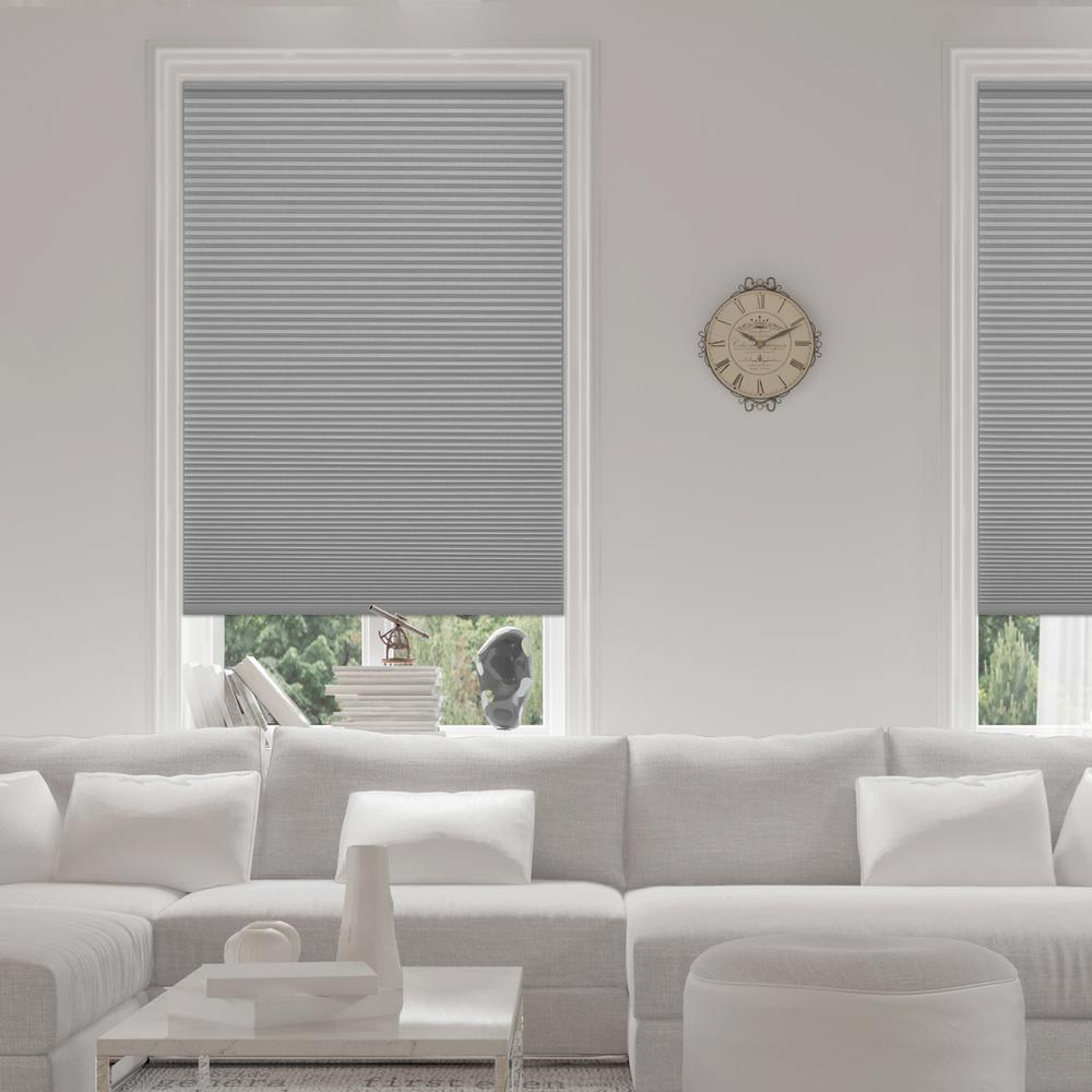 honeycomb blinds home depot bottom home decorators collection pewter 916 in cordless blackout cellular shade 72 in