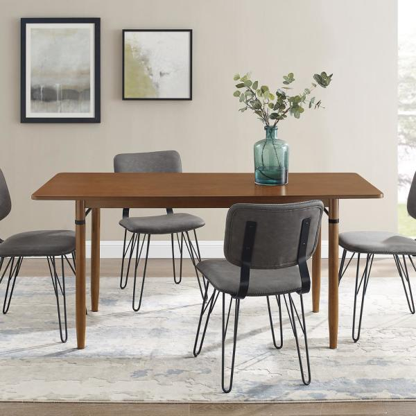 Welwick Designs 68 In Acorn Modern Wood Dining Table Hd8381 The Home Depot