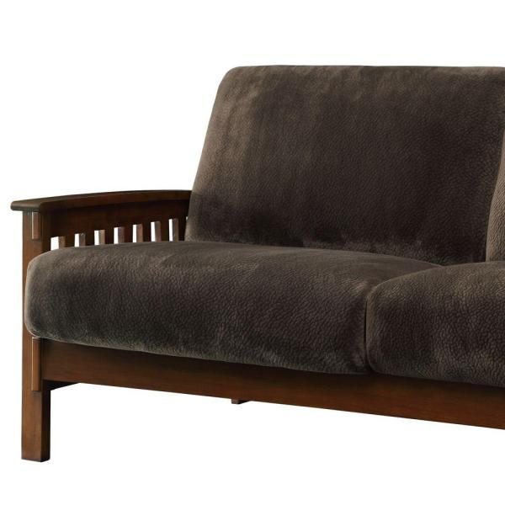 Dark Brown Microfiber Sofa 409912 Br