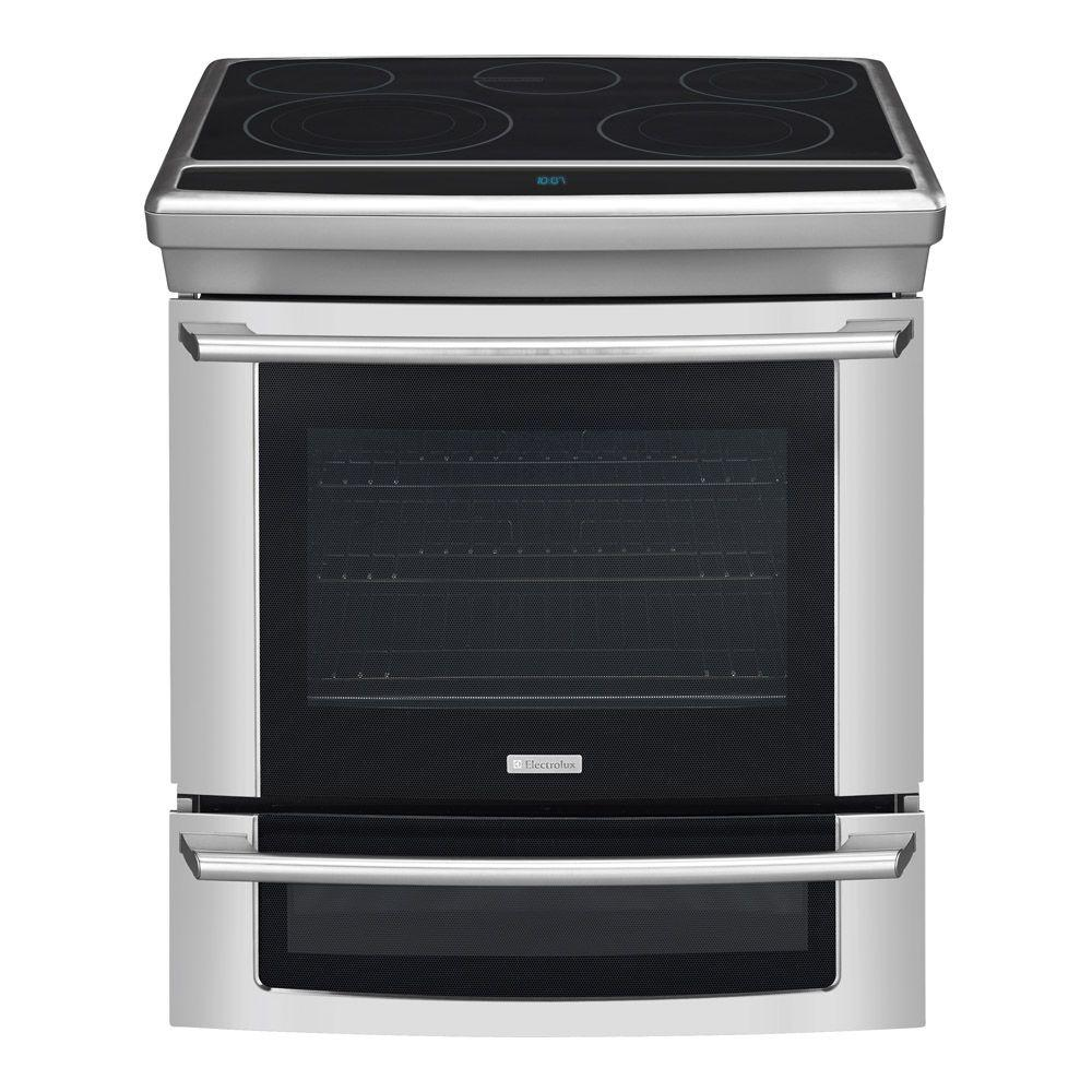 Electrolux Wave-Touch 4.2 cu. ft. Slide-In Double Oven Electric Range with Convection Oven in Stainless Steel-DISCONTINUED