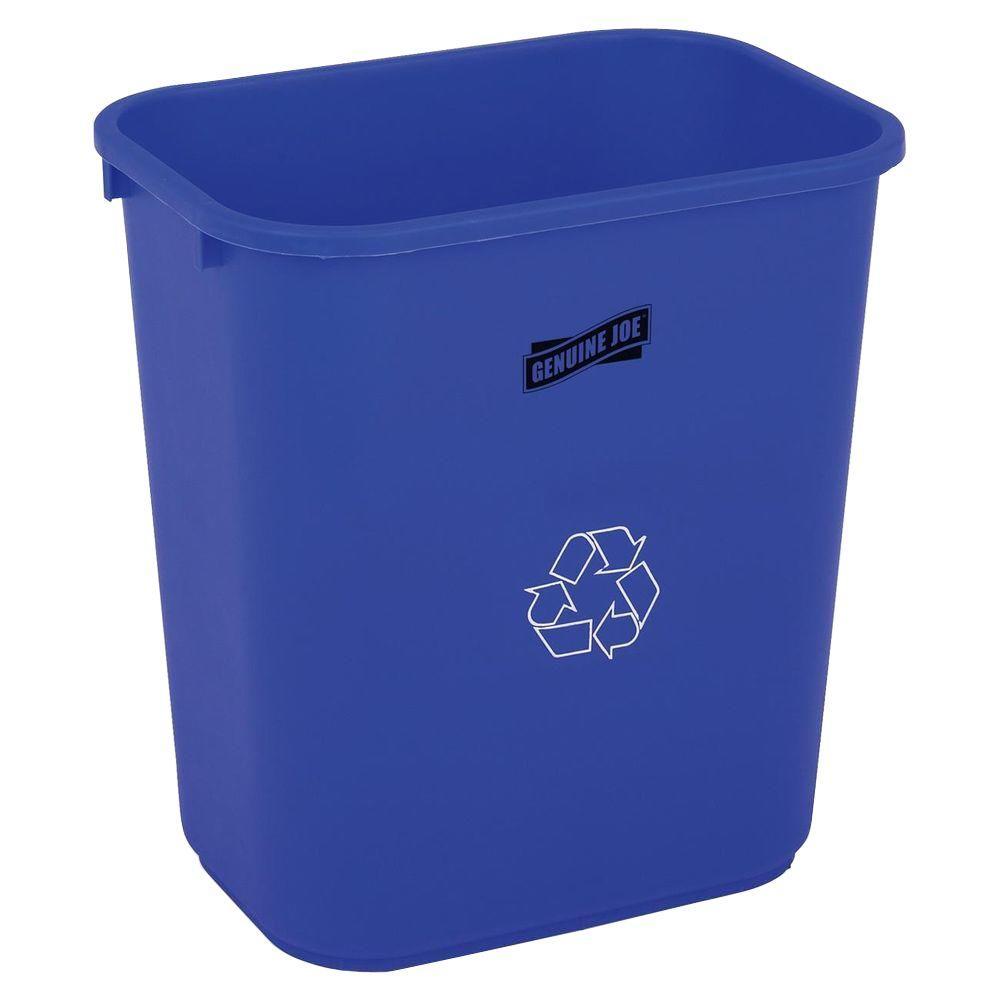 Genuine Joe 28 Qt. Plastic Indoor Recycling Bin