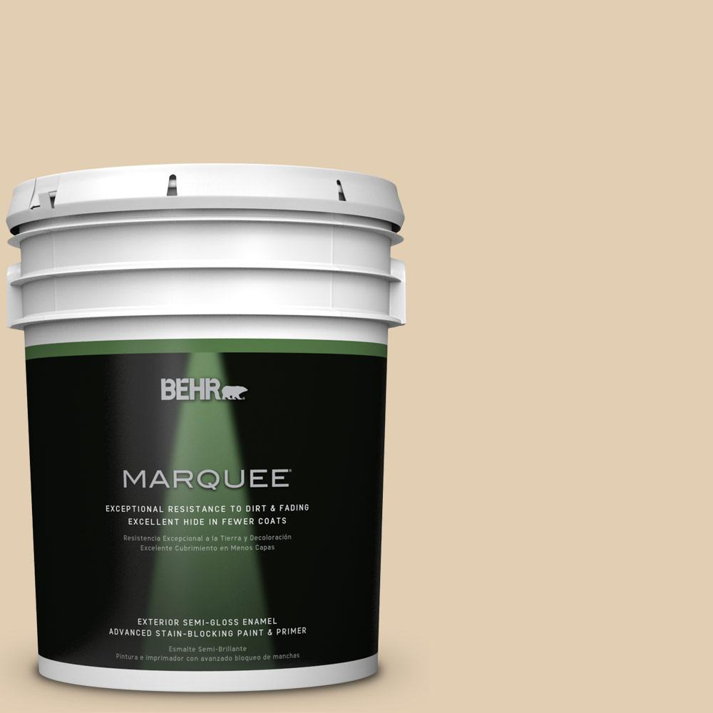 BEHR MARQUEE Home Decorators Collection 5-gal. #hdc-AC-09 Concord Buff Semi-Gloss Enamel Exterior Paint,  Beige/Ivory
