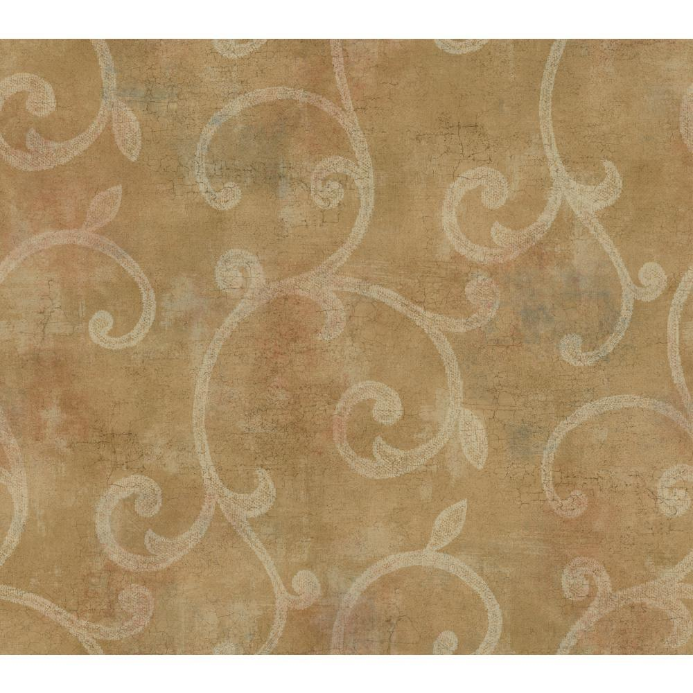 Lacey Scroll Raised Print Wallpaper