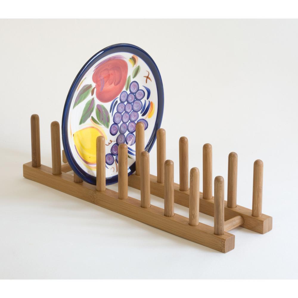 Lipper Bamboo Plate Rack/Pot Lid Holder-887