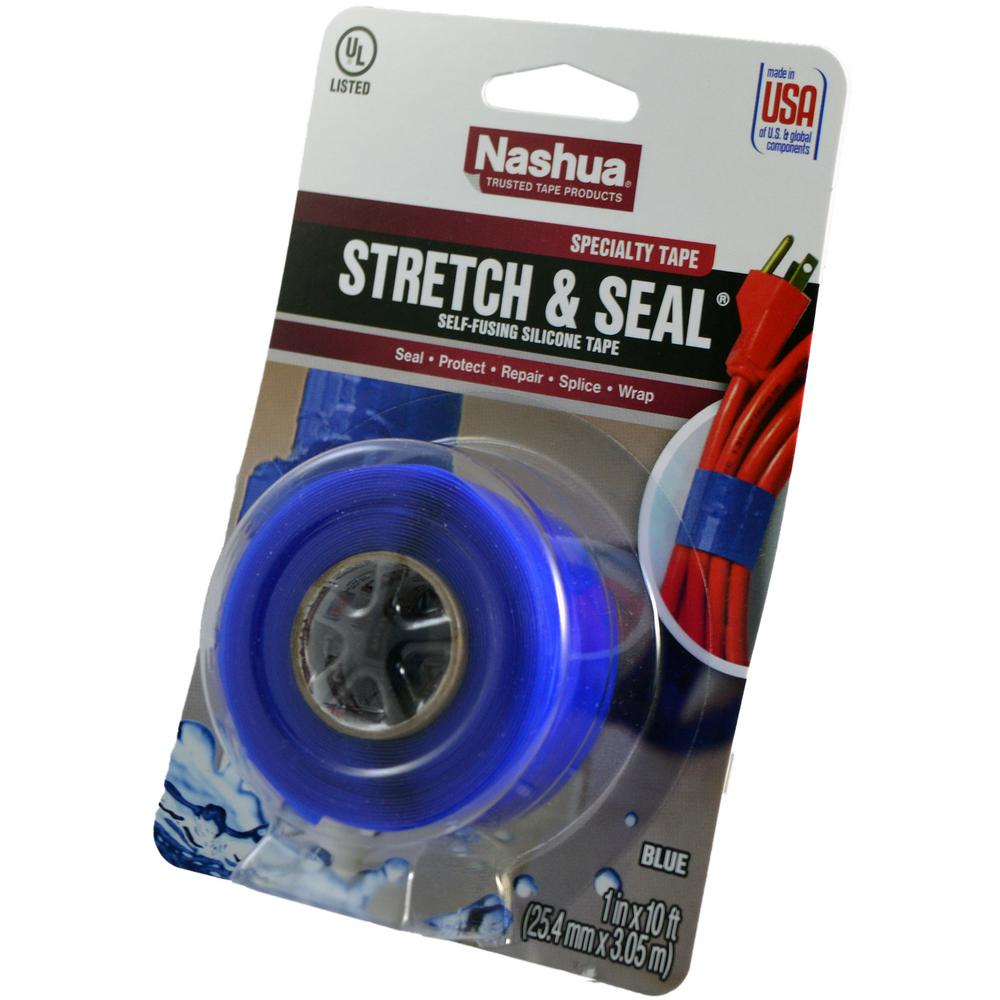 Nashua Tape 1 in. x 3.33 yd. Stretch and Seal Self-Fusing Silicone Tape in Blue