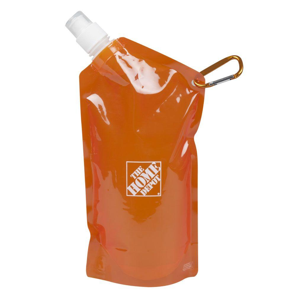 null 0.625 qt. Home Depot Collapsible Water Bottle-DISCONTINUED