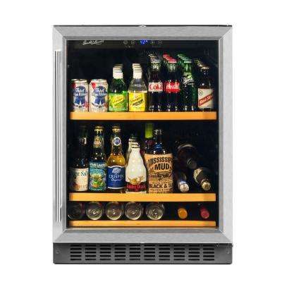 178 Can Beverage Cooler, Stainless Steel