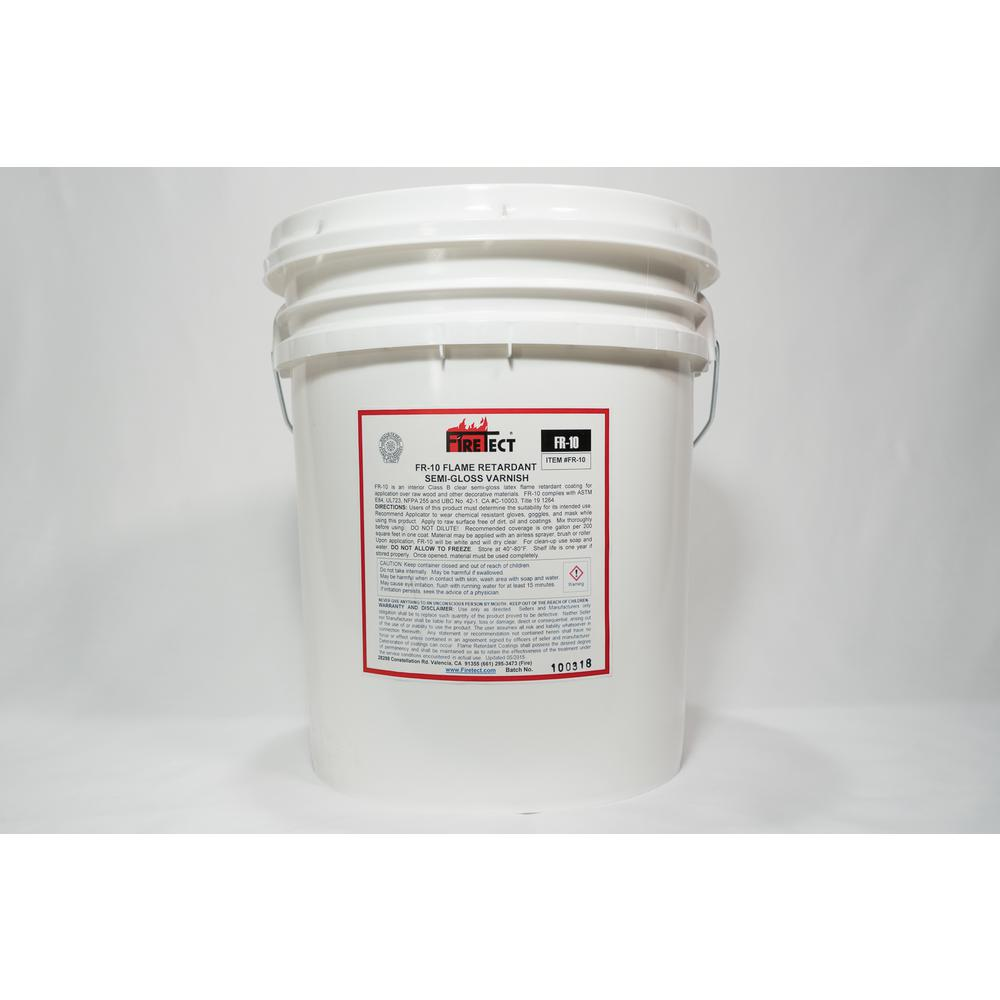 Firetect FR-10 5 gal. Clear Semi-Gloss Interior Fireproofing Flame Retardant Coating for Wood