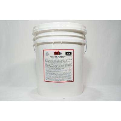 FR-10 5 gal. Clear Semi-Gloss Interior Fireproofing Flame Retardant Coating for Wood