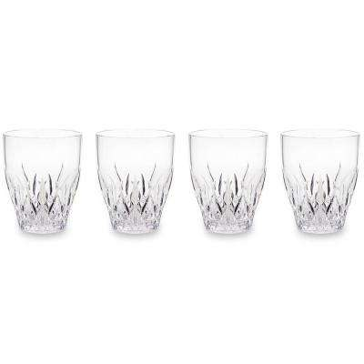 Aurora Crystal 12 oz. Clear Stemless Wine Glass (Set of 4)