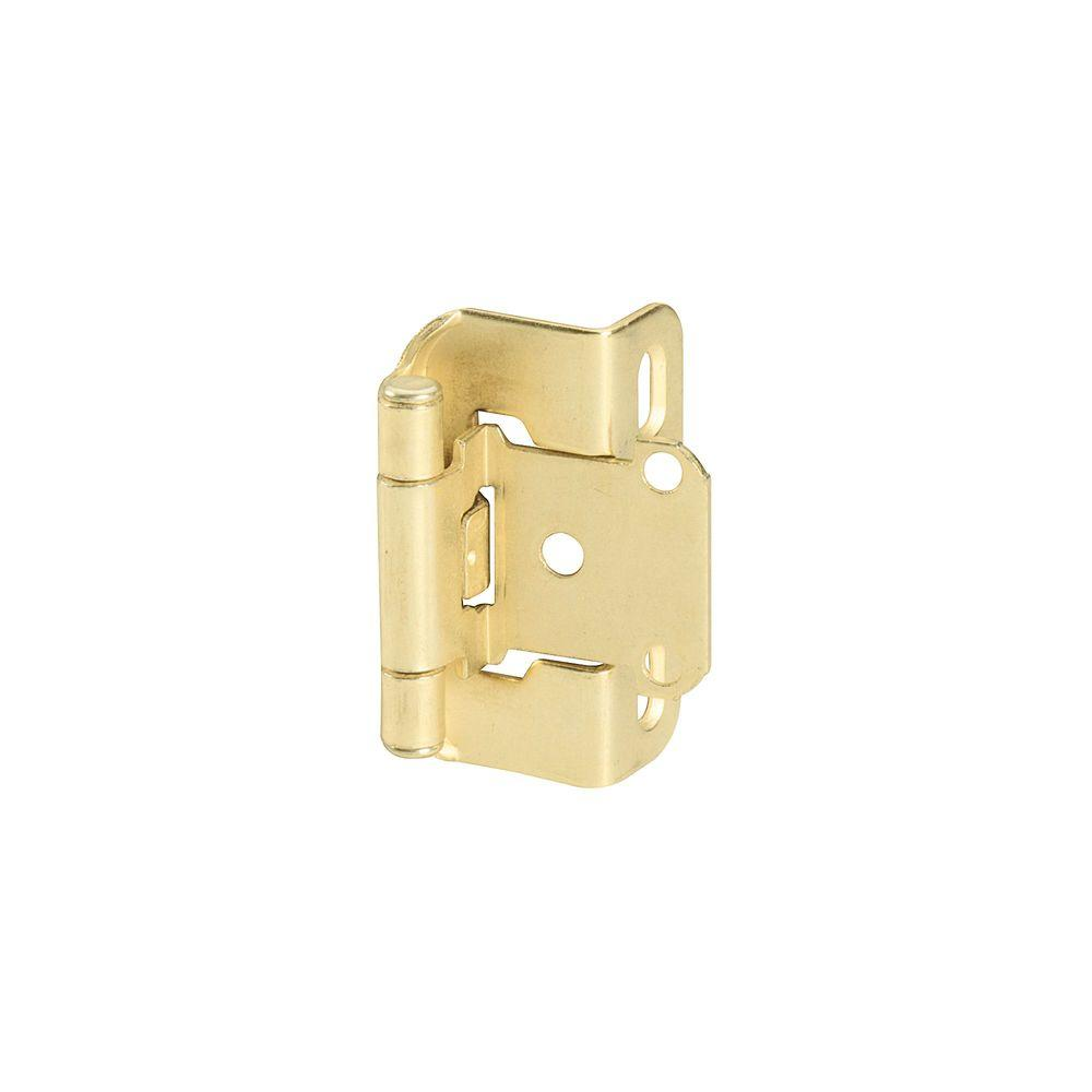 1-3/4 in. W x 2-1/4 in. H Polished Brass Self-Closing Partial