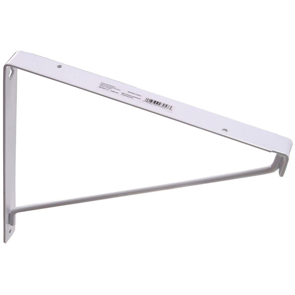 White Closet Shelf Bracket (20-Pack)
