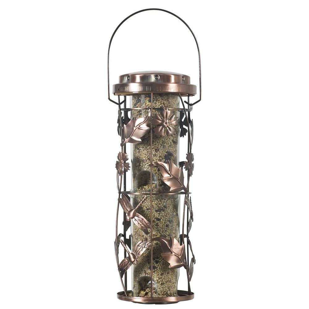 Copper Garden Hanging Bird Feeder - 1 lb. Capacity