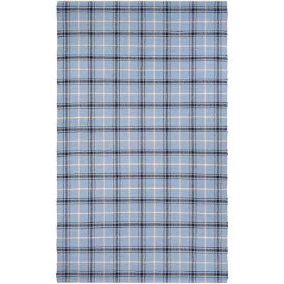 Bar Harbor Cape Plaid Blue Jay-Black 8 ft. x 10 ft. Area Rug