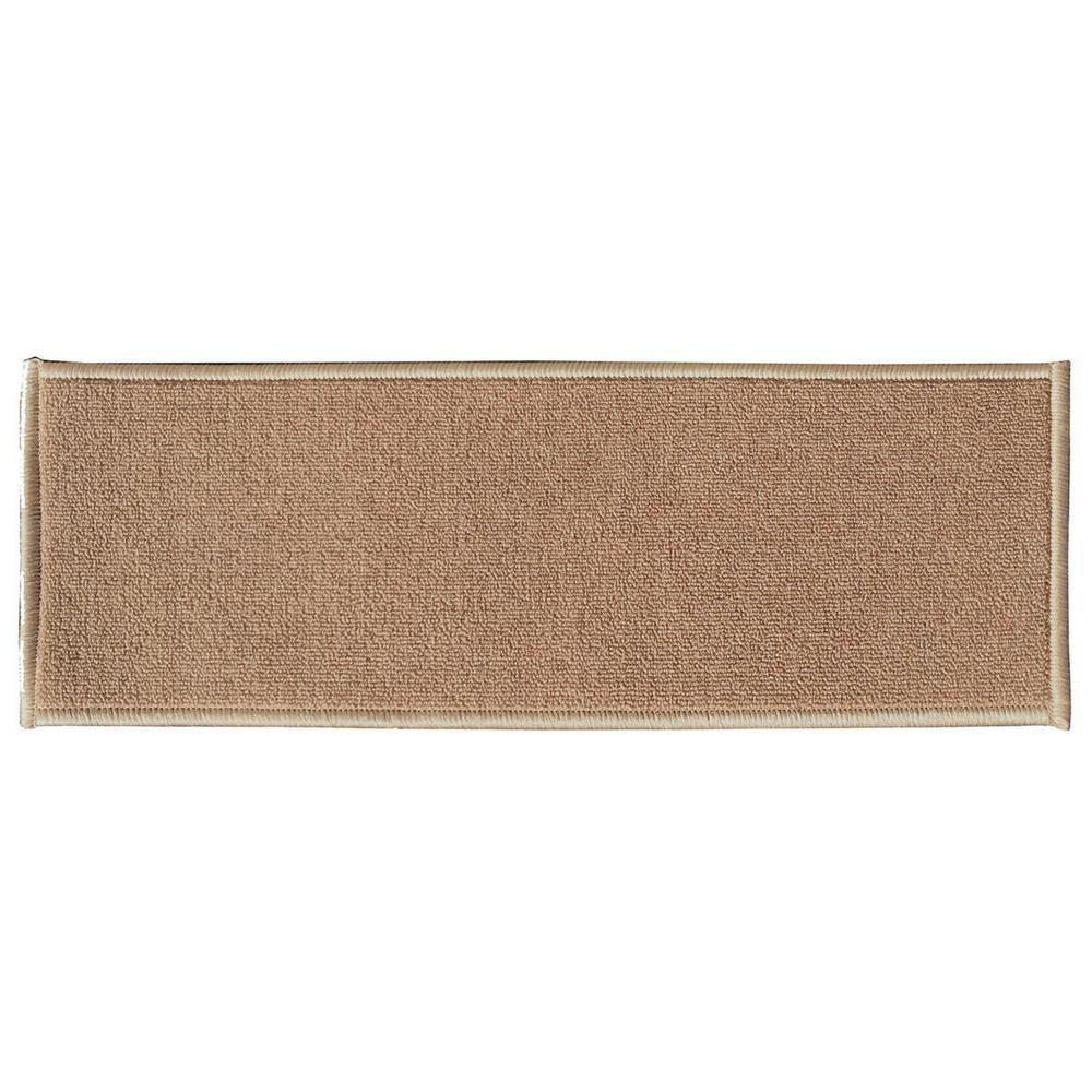 Ottomanson Dark Beige 8.5 in. x 26.6 in. Non-Slip Rubber Back - Sale: $18.70 USD (37% off)