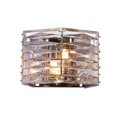 Squill 2-Light Polished Nickel Sconce