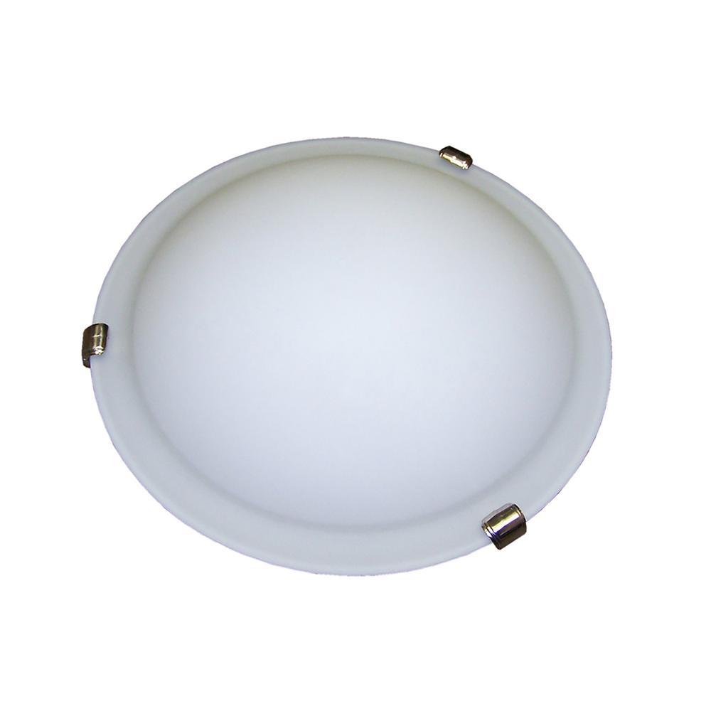 3-Light Satin Nickel Flushmount