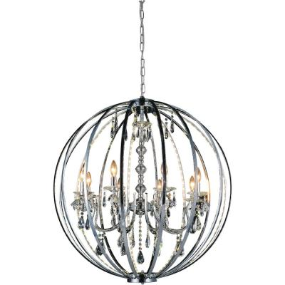 Cwi Lighting Juno 117 Watt Chrome Integrated Led Chandelier 5704p20