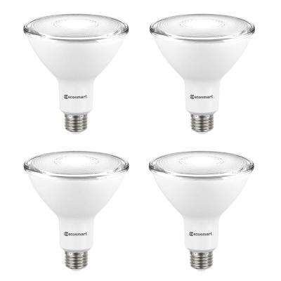 90-Watt Equivalent PAR38 Non-Dimmable Flood LED Light Bulb Bright White (4-Pack)