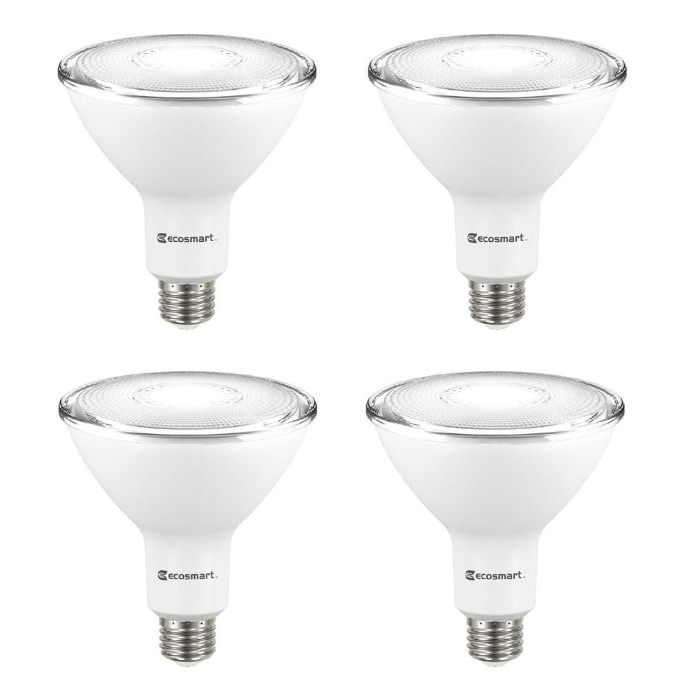 90-Watt Equivalent PAR38 Non-Dimmable Flood LED Light Bulb Bright White (4-Pack)
