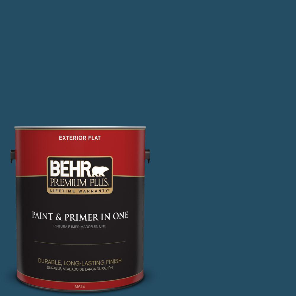 BEHR Premium Plus 1-gal. #560D-7 Planetarium Flat Exterior Paint