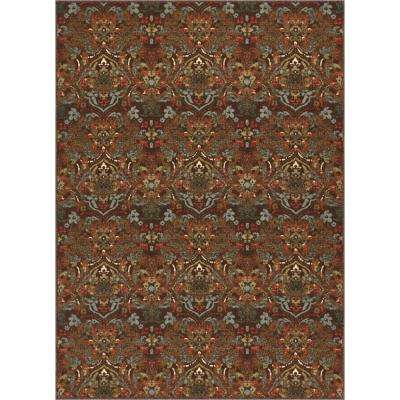 Kings Court Florence Brown 5 ft. x 7 ft. Traditional Rustic Area Rug