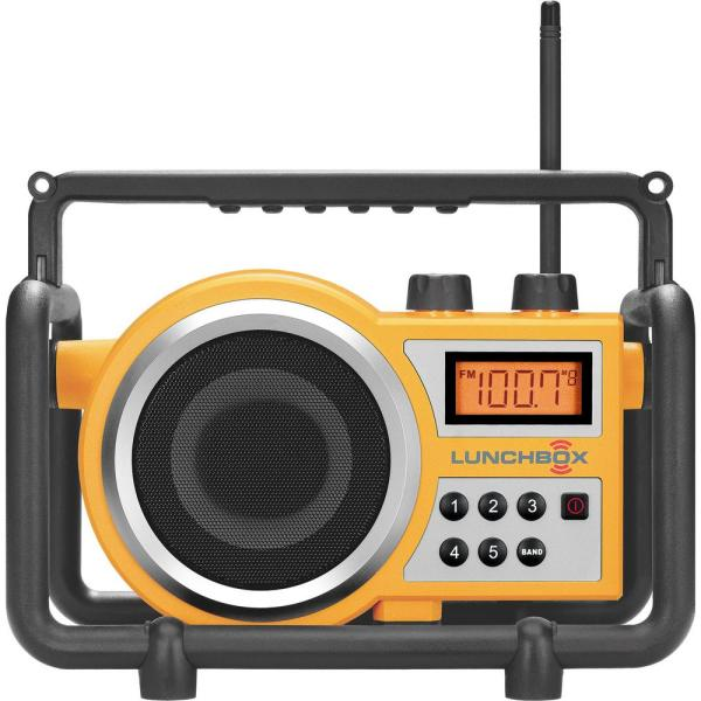Compact AM/FM Ultra Rugged Digital Tuning Radio Speaker in Yellow
