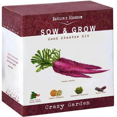 Exotic Vegetables Growing Kit Complete Set to Grow 5 Unique Vegetables Planting Pots, Soil and Guide Included