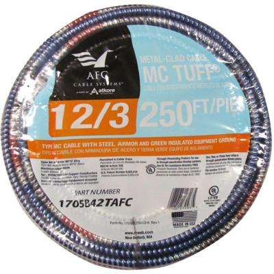 12/3 x 250 ft. Solid MC Tuff Cable
