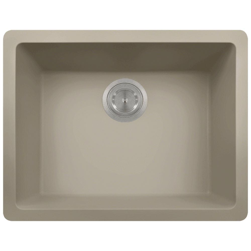 Dualmount Composite 22 in. Single Bowl Kitchen Sink in Sl...