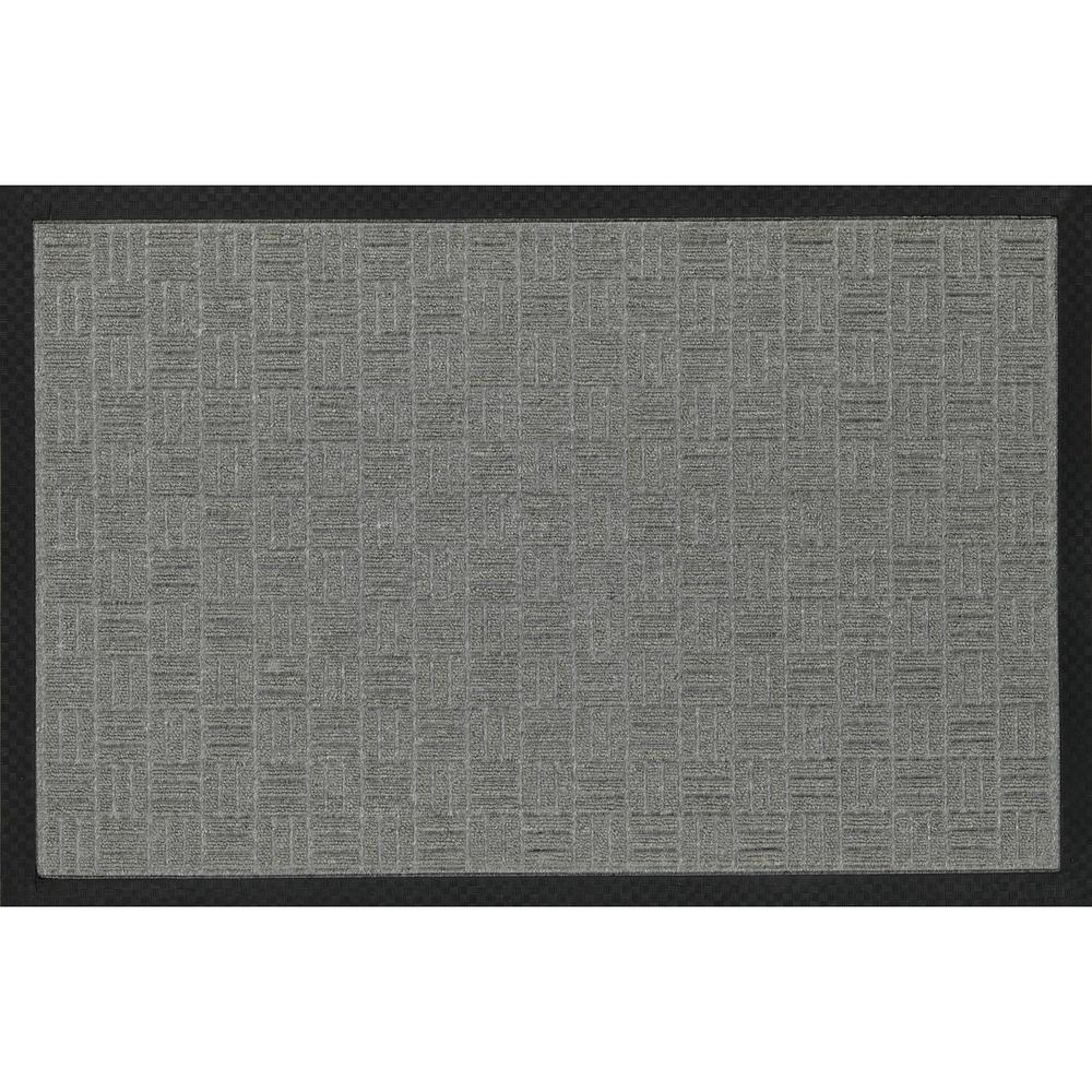 Silver 18 in. x 30 in. Loop Carpet Natural Rubber Door Mat