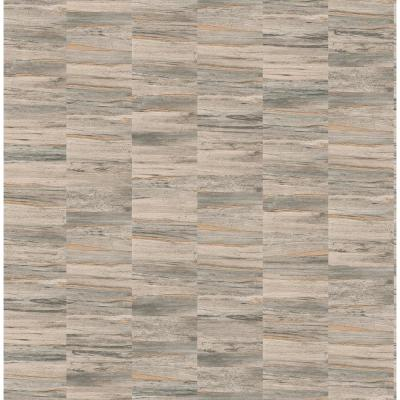 Hugo Light Brown Faux Wood Wallpaper Sample