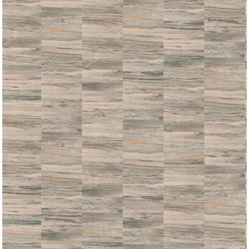 Fine Decor Hugo Light Brown Faux Wood Wallpaper Sample