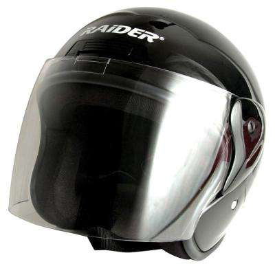 X-Large Adult Black Flip Shield Helmet