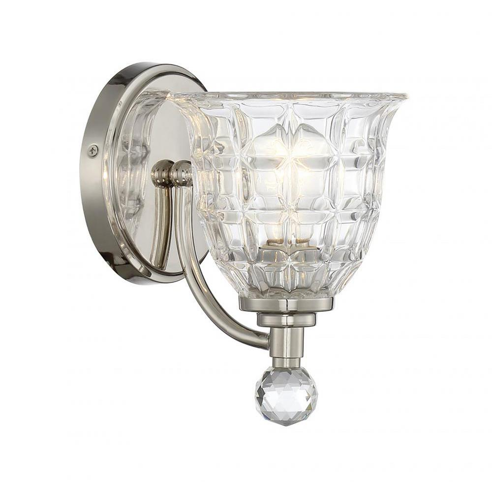 Filament Design Stephen 1-Light Polished Nickel Outdoor Wall Mount Sconce-CLI-SH254154 - The Home Depot  sc 1 st  Home Depot & Filament Design Stephen 1-Light Polished Nickel Outdoor Wall Mount ... azcodes.com