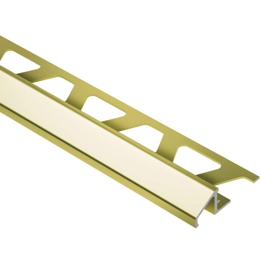 Reno-U Bright Brass Anodized Aluminum 3/8 in. x 8 ft. 2-1/2