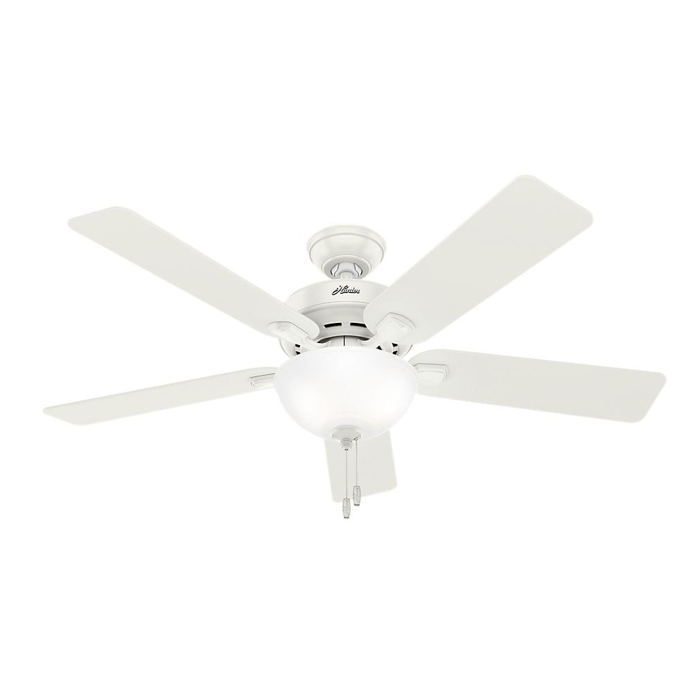Hunter Pro Desk 52 In Indoor Bowl Fresh White Ceiling Fan
