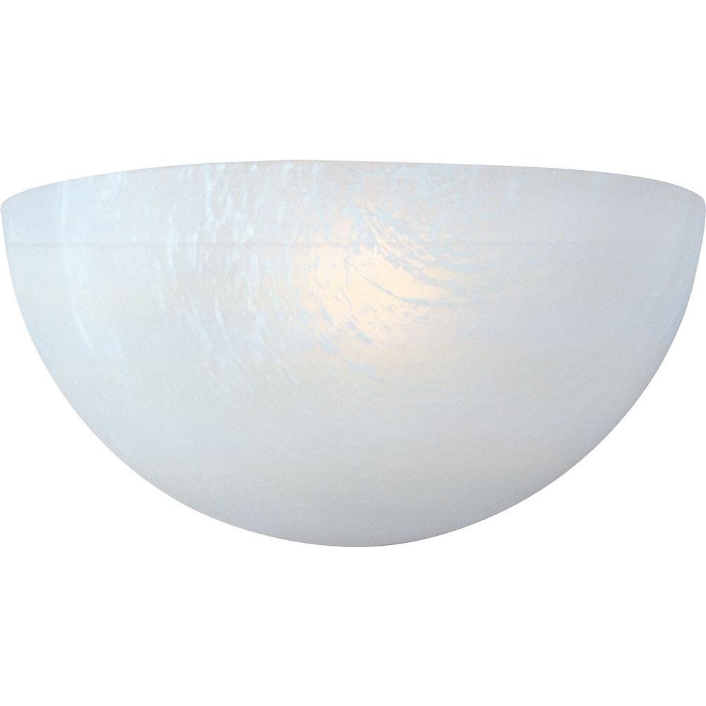 Essentials 1-Light White Flushmount
