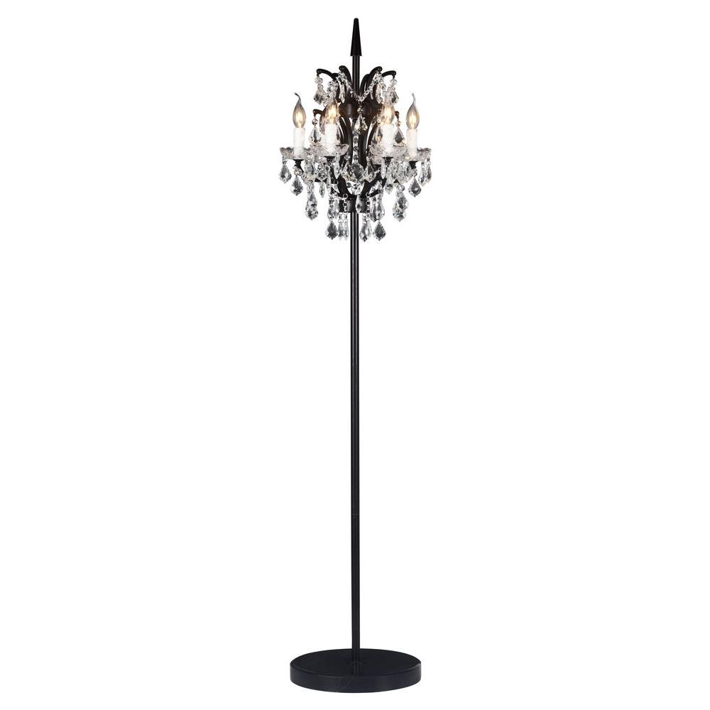 Zuo phoenix 70 in distressed black floor lamp 56002 the home depot distressed black floor lamp 56002 the home depot mozeypictures Images