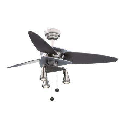 Vector Elite 42 in. Brushed Nickel and Graphite Ceiling Fan
