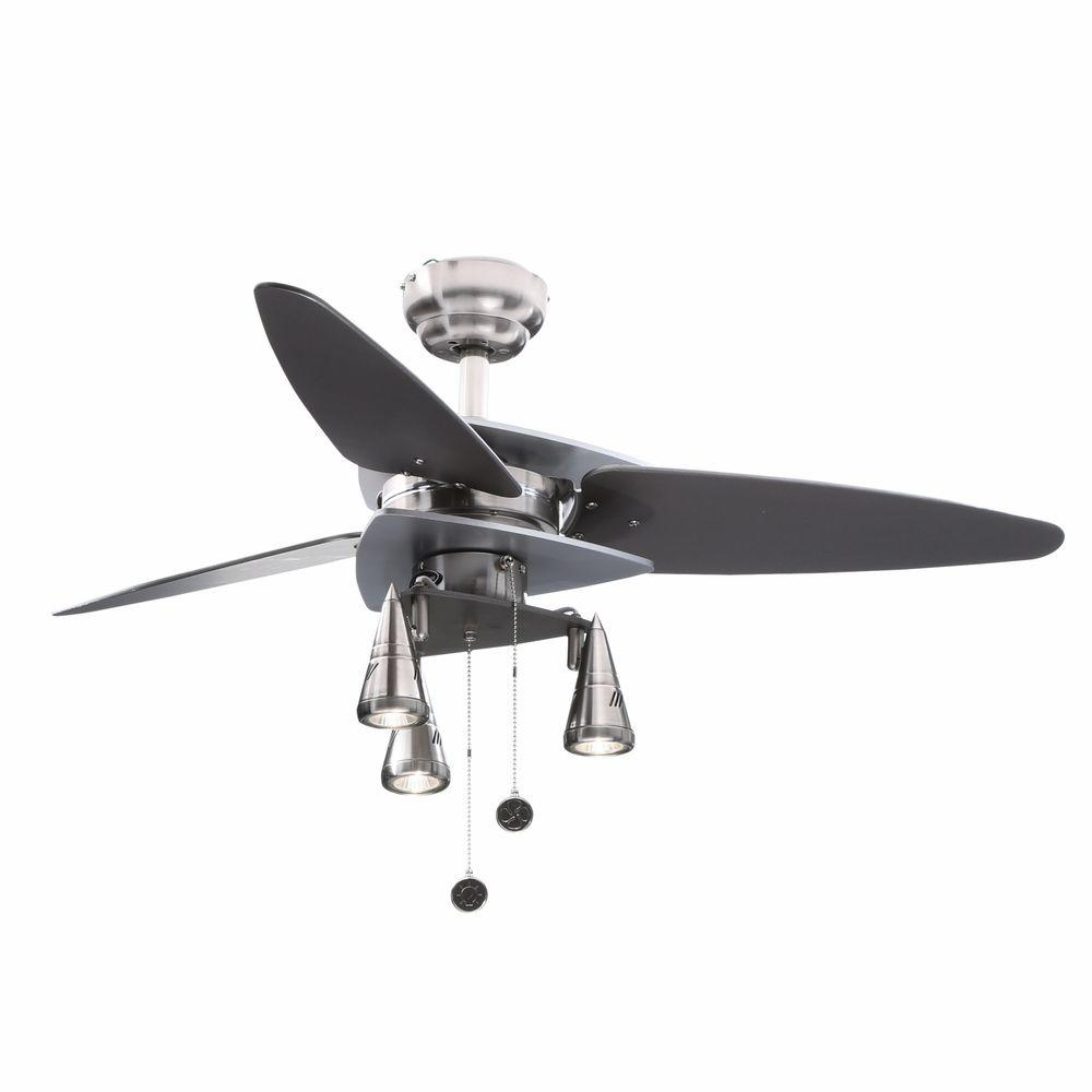 Westinghouse Vector Elite 42 In Indoor Brushed Nickel And Graphite Ceiling Fan
