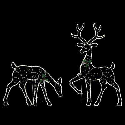 60 in. Deer and 31 in. Doe Cool White LED Family