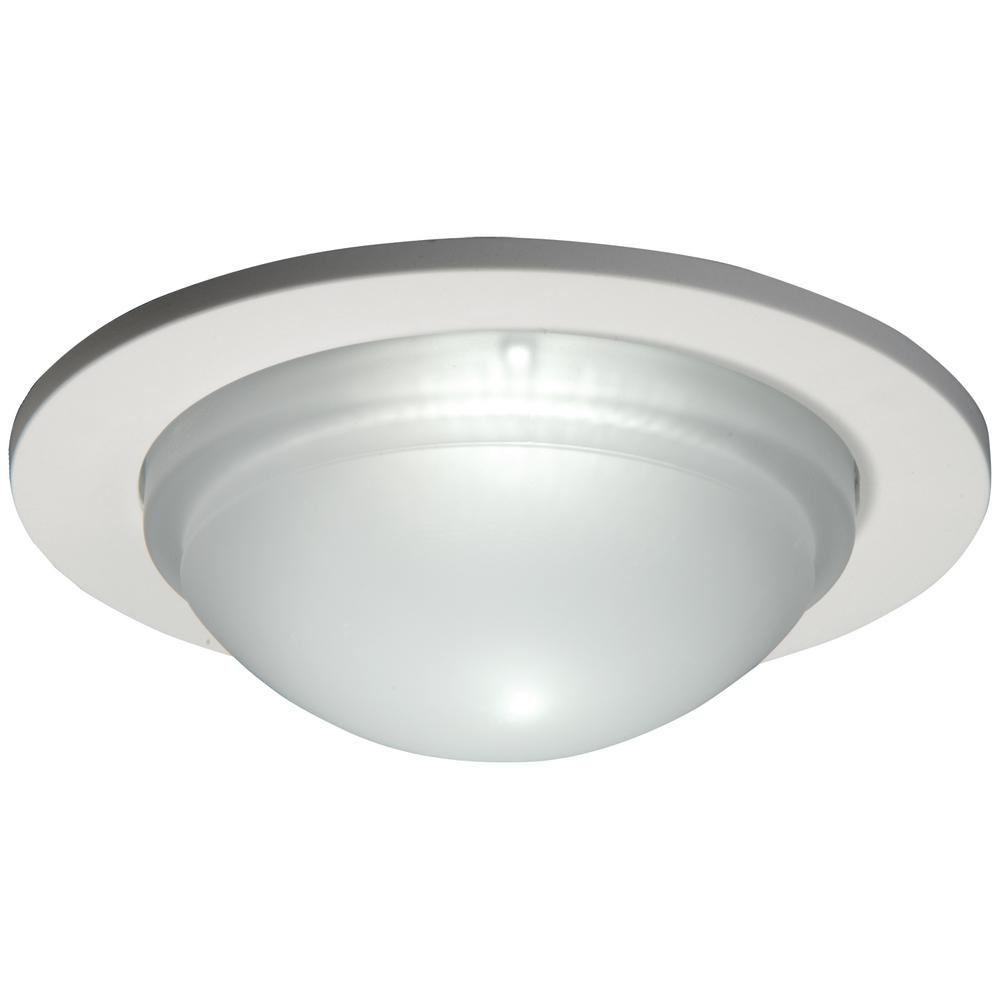 White Recessed Ceiling Light Dome Trim Wet Rated Shower