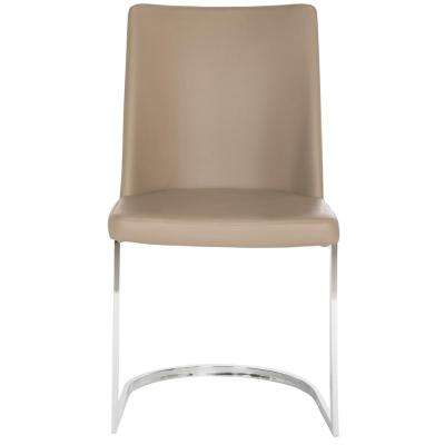 Parkston Taupe 18 in. H Leather Side Chair (Set of 2)