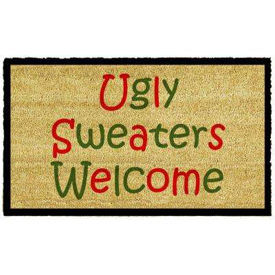Ugly Sweaters 17 in. x 29 in. Coir Door Mat